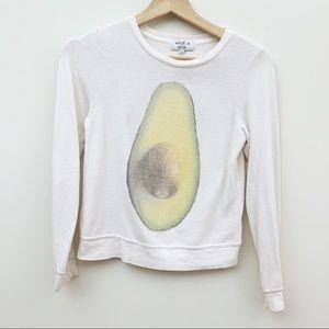 Wildfox Kids Avocado Baggy Beach Jumper Sweatshirt